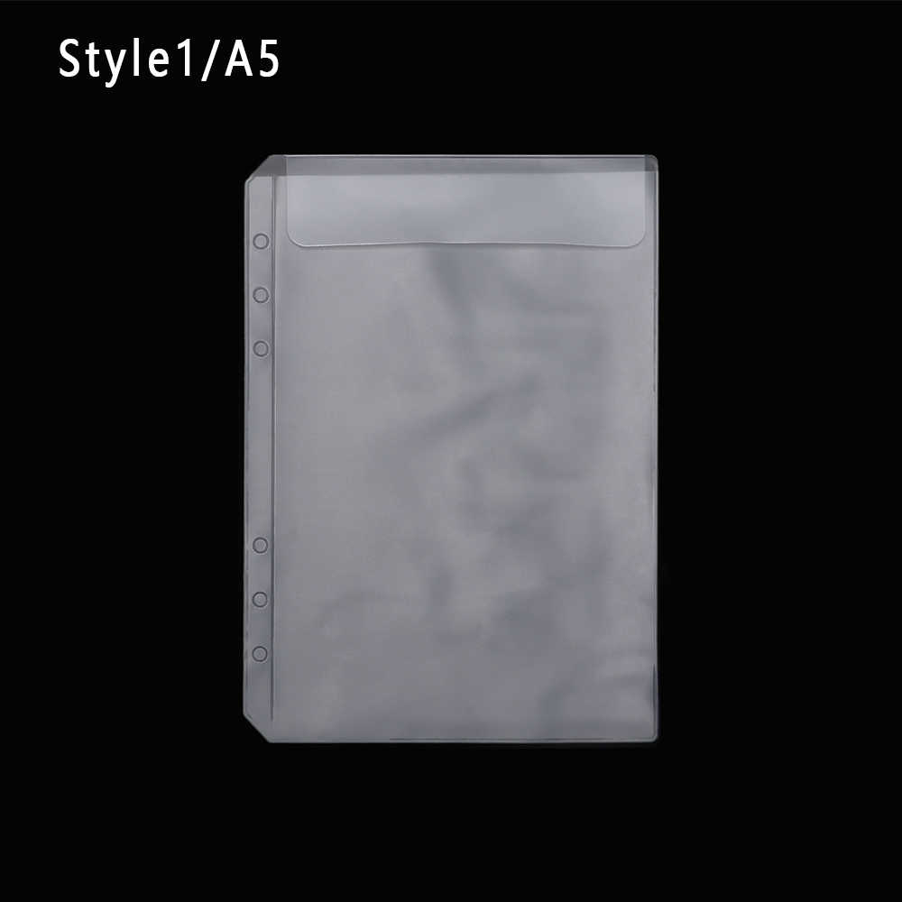 2PCS/Lot A5 Transparent PVC Loose-leaf Storage Pouches Bag Organizer Clear Resealable Concise Collection Document Postcard Bag