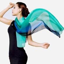 100% real silk scarf wrap shawl hijab women female gradient