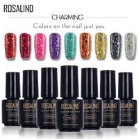 ROSALIND Black Bottle 7ML Star&Moon glitter S01-12 UV&LED Soak-Off Gel Nail Polish Nail Art Nail Gel Polish Manicure Gel Varnish
