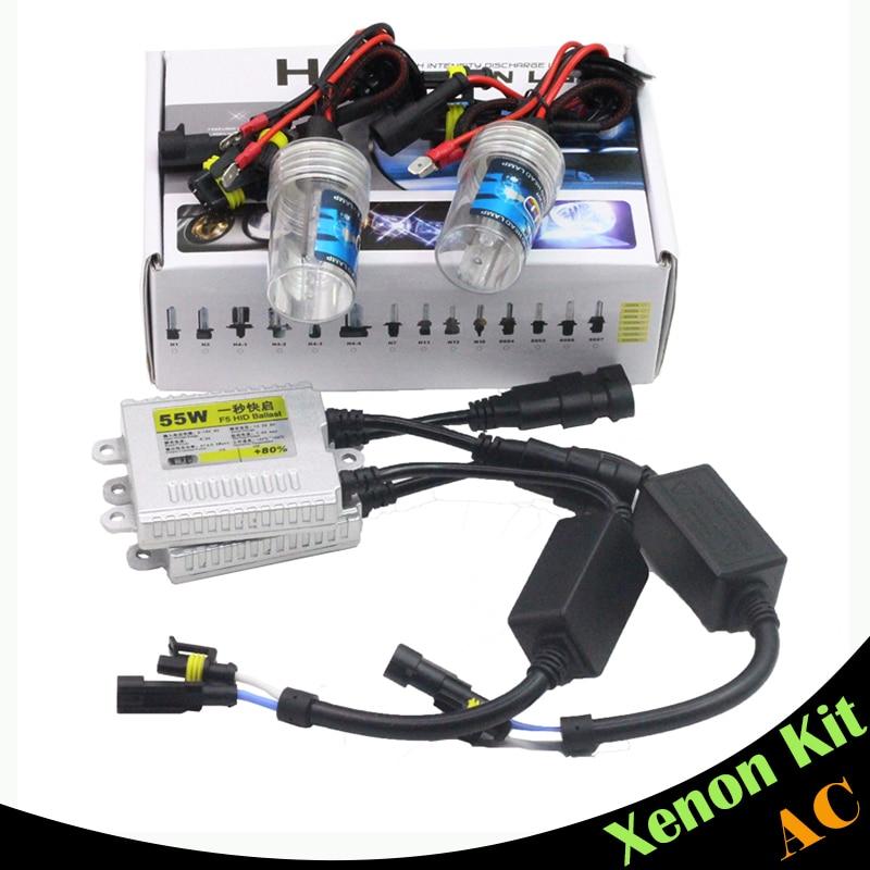 Cawanerl 55W Xenon Kit AC HID Ballast Bulb 15000K Car Headlight Fog Light 9005 HB3 H10 9006 HB4 H1 H3 H7 H8 H9 H11 880 881 xenon hid kit h1 h3 h7 h8 h9 h10 h11 h16 9005 9006 hb3 hb4 ds2 d2r 4300k 12000k 55w ac digital ballast 12v
