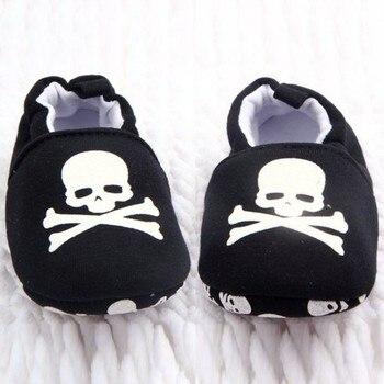 Newborn Baby Boys Girls First Walkers Prewalker Infant Baby Unisex Skull Pirate Print Cotton Soft Bottom Shoes майка борцовка print bar pirate skull page 2