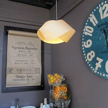 Moderne Licht LED Holz Kronleuchter Schlafzimmer Wohnzimmer Restaurant Studie Deco Lampe Nacht Lernen Anhänger Lampen Leuchten