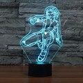 3d lámpara super hero the avengers figura de acción negro viuda ilusión lámpara de mesa de dormitorio de la lámpara de color cambiante luz de la noche de juguete