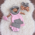 New style Baby girl clothes Summer pink kids clothes baby girl clothing set Hooded Top + pants 2pcs infant clothing set