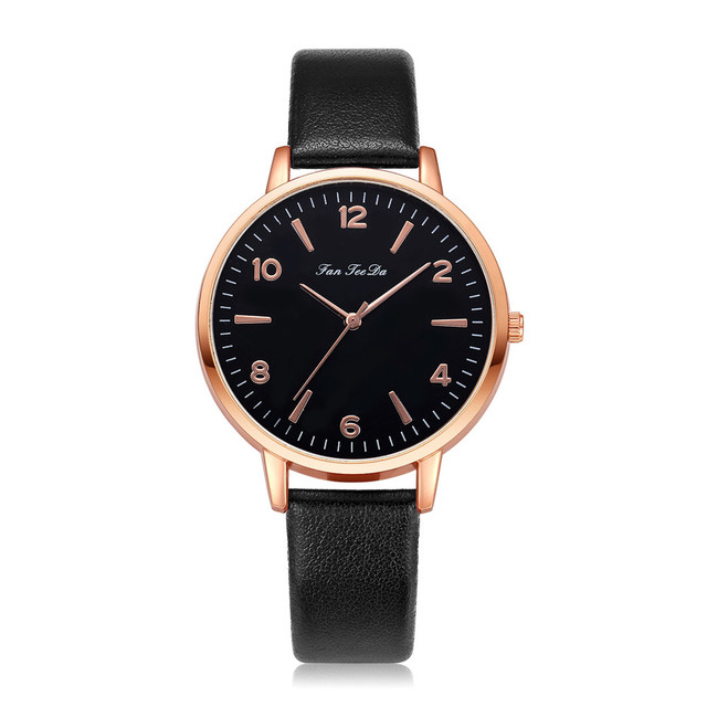 Women Watch Bracelet Watch Contracted Rose Gold Leather WristWatches Women Dress