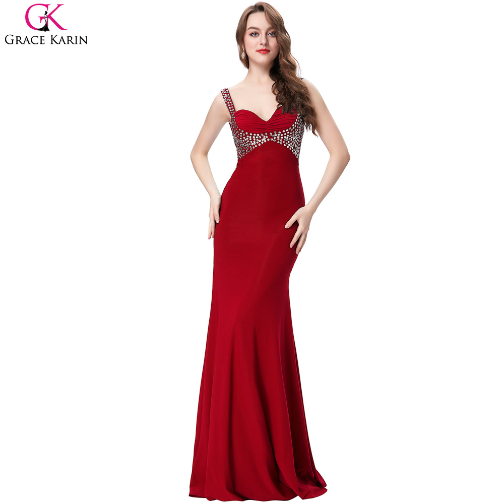 19e6f88fdbb Black Fitted Prom Dress 2017 Elegant Grace Karin Purple Dresses Long Formal  Gowns Bodycon Sequin Backless Mermaid Prom Dresses-in Prom Dresses from  Weddings ...