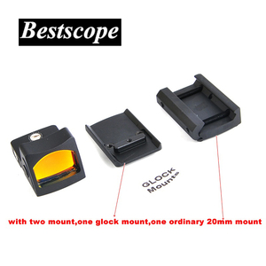 Image 5 - Mini RMR Red Dot Sight Collimator Glock / Rifle Reflex Sight Scope fit 20mm Weaver Rail For Airsoft / Hunting Rifle