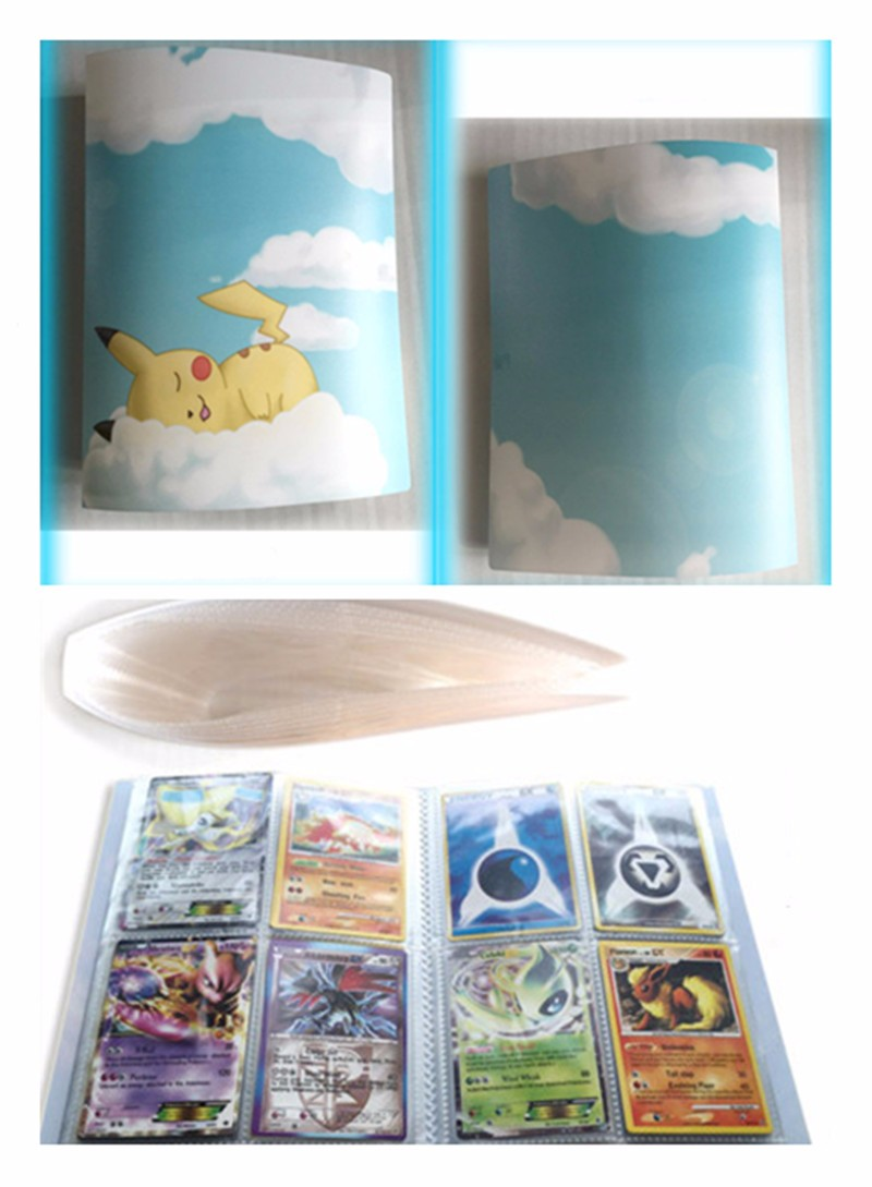 4 Style Pokemons Cards Album Book List Loaded Into 112 EX Cards Collection Album Carte Collection Card Kids Toys Gifts 120 pockets coins album collection book mini penny coin storage album book collecting coin holders for collector gifts supplies