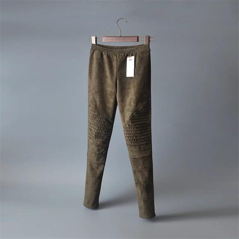 Slim Suede Jeans 9
