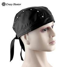 Skórzane Bandana Biker Doo czy wytycznych w sprawie pomocy regionalnej Headwrap z ćwiekami mężczyzna Cap Capsmith Du wytycznych w sprawie pomocy regionalnej cheap crazy hunter Dla dorosłych Sun kapelusze Na co dzień Stałe