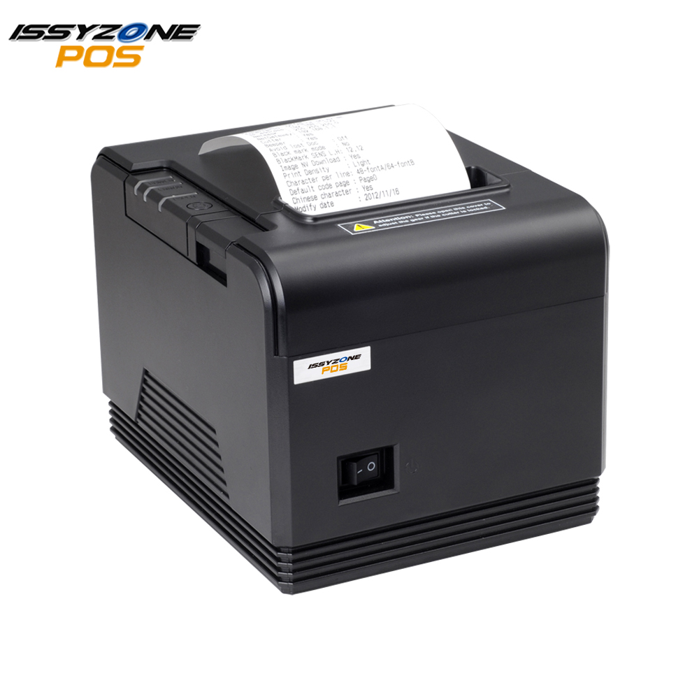 High Quality 80mm Thermal Receipt Printer Barcode Bill Printer 300mm s automatic cutter USB Serial Ethernet