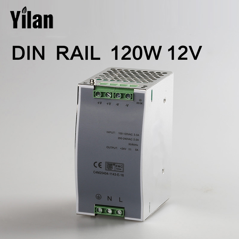120W 12V Din Rail Single Output Switching power supply DR-120-12 120w 12v din rail single output switching power supply dr 120 12