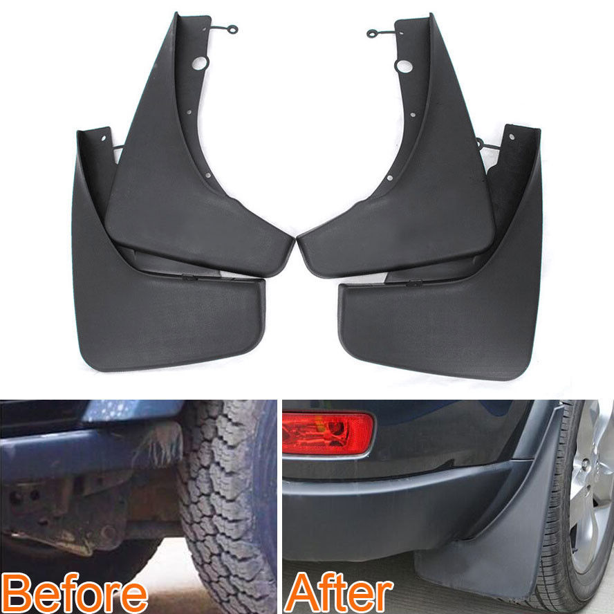 4 Pcs Car Front Rear Fender Mud Flaps Mudflaps Splash Guards Mudguards Car Styling Accessories For Jeep Grand Cherokee 2011-2017