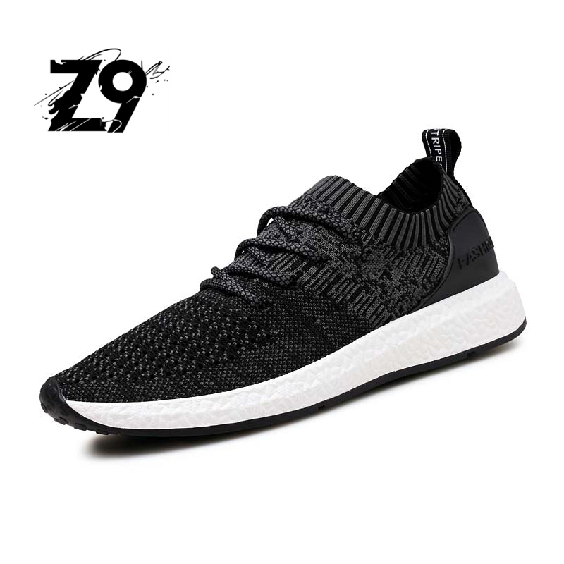 Z9 2017 New Men Casual Shoes Lace up Fashion brand Mesh Spring Summer shoes Flats Solid Men Breathable shoes man #1918