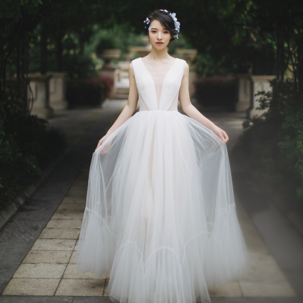 Boho Wedding Dresses: Elegent Wedding Dress 2019 Real Photo Weddingdress Boho