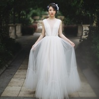 Elegent Wedding Dress 2019 Real Photo Weddingdress Boho Beach Vestido De Noiva Gown Formal Dress Bridal Dress Travel Photo