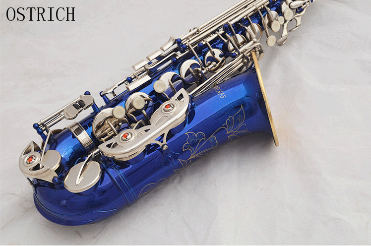NEW ALL COLOR ALTO SAXOPHONE Purple Alto Sax Blue Alto Sax White Alto Sax Light Blue Eb Saxophone  Case and Accessories hot sale baking diy tool cream mounting patterns gun aluminum alloy framed receptacle