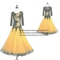 Ballroom Dance Dresses Summer New long Sleeve Dancing Costume Women Waltz Ballroom Competition Dance Dress