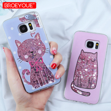 For Samsung Galaxy S9 Plus Liquid Glitter Case A5 2017 A8 2018 S8 S7 Edge J5 J7 J3 2016 A3 A7 Dynamic Cover