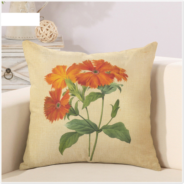 Les Tournesols Sunflower Flower Retro Cartoon Pillow Cover Massager Amazing Sunflower Decorative Pillows
