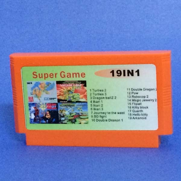 Rare Game No Repeated 19 In 1 8 Bit Card