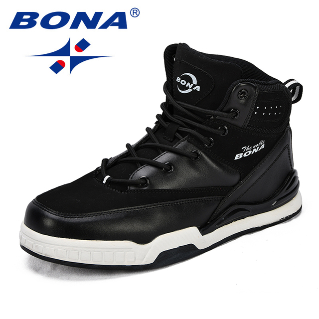 BONA New Arrival classics Style Men Basketball Shoes High Upper Men Athletic Shoes Lace Up Men Outdoor Jogging Shoes Sneakers