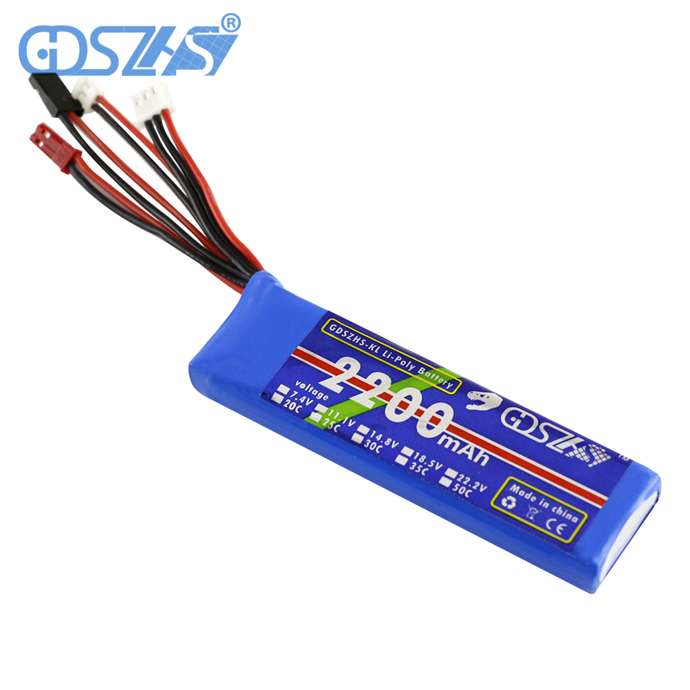 2200mAh 7.4V LiPo  Battery 2s for Devention Devo7e Devo10 Battery  JST/JR/Dupont Remote Controller DIY Battery 7 4v 500mah 50c lipo battery