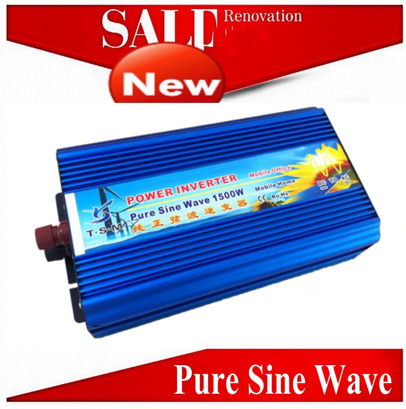 цена на Sinusoidal pura 1500W pure sine wave power inverter wind/solar inverter. 12/24/48/ DC to 100/110/120/220/230/240V AC