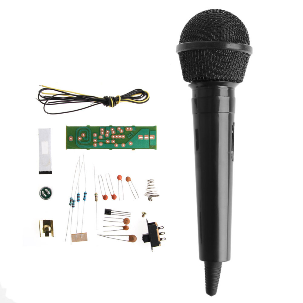 OOTDTY FM Frequency Modulation Wireless Microphone Suite Electronic Teaching Kits DIY