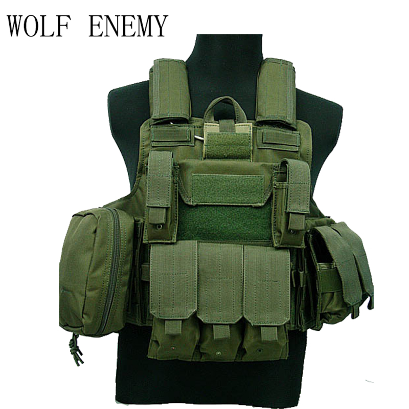 Tactical Vest CS Wargame Airsoft Paintball MOLLE CIRAS Combat Vest CIRAS Tactical Vest With Triple Magazine Pouch ACU/WOODLAND airsoft adults cs field game skeleton warrior skull paintball mask