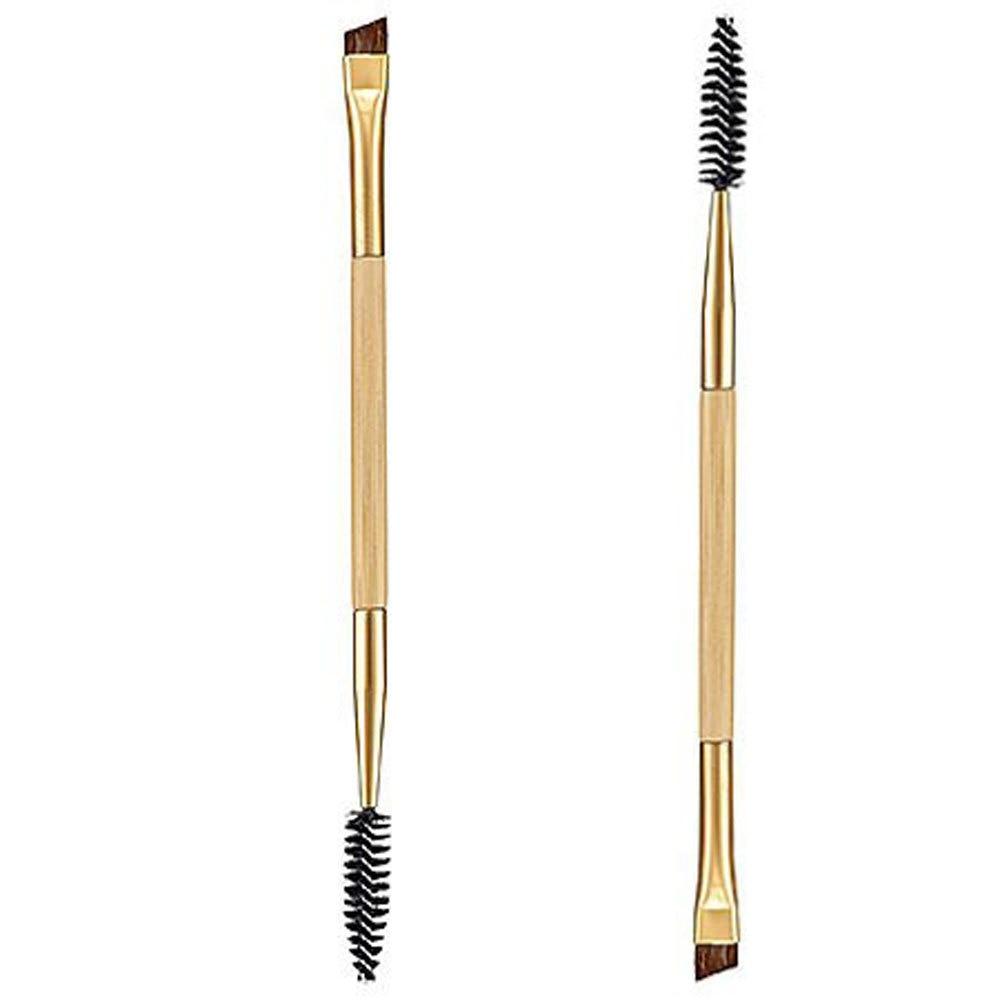 1pcs Eyelash Eyebrow Brush Makeup Brush Bamboo Handle Double Head Brush Pro Eye Lash Eye Brow Brush Cosmetic Makeup Beauty Tools