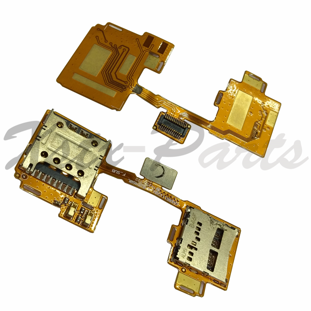 1PCS Replacement Sim Card Holder Reader Slot Flex Cable Board For LG G3 F460