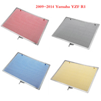 Aluminum Radiator Guard Water Tank Coolant Grill Grille Net Cover Protector for 2009 2014 Yamaha YZF R1 2010 2011 2012 2013