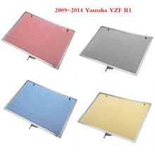 Aluminum Radiator Guard Water Tank Coolant Grill Grille Net Cover Protector for 2009-2014 Yamaha YZF R1 2010 2011 2012 2013