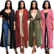 Ladies Womens Open Flare Flowy Floaty Butterfly Jacket Maxi Coat Cardigan