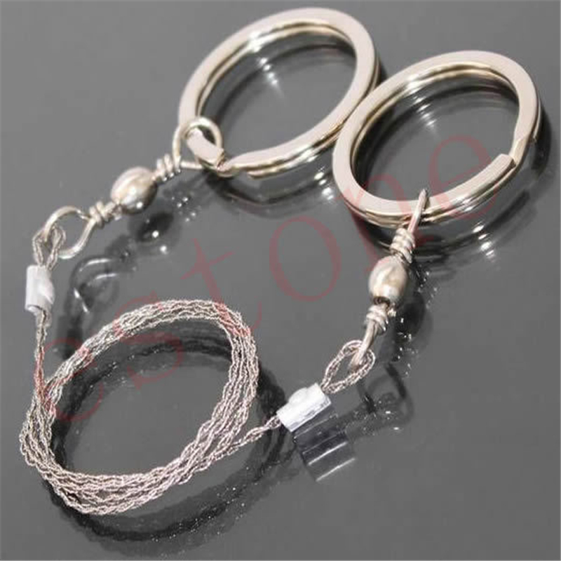 Field Survival Stainless Wire Saw Hand Chain Saw Cutter Outdoor Emergency Fretsaw Camping Hunting Wire Saw Survival Tool apg 65cm outdoor survival pocket chainsaw and camping gardening hand chain saw