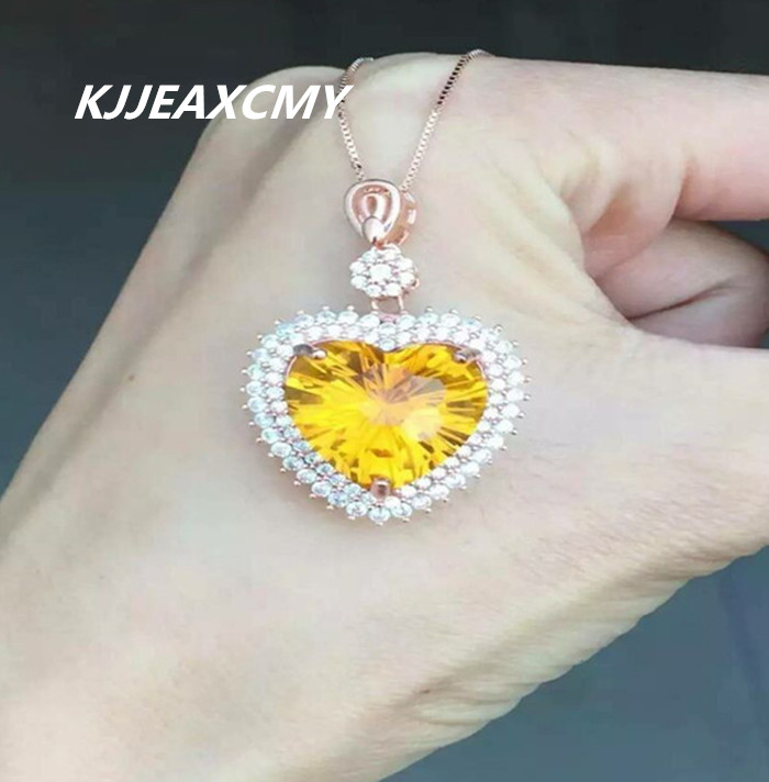 KJJEAXCMY boutique jewelry,Huang Shuijing pendant natural rose gold wholesale S925 silver custom-made womenKJJEAXCMY boutique jewelry,Huang Shuijing pendant natural rose gold wholesale S925 silver custom-made women