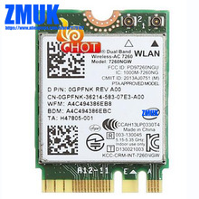 Int Dual Band Wireless-AC 7260 7260NGW 802.11ac/abgn WiFi+BT4.0 867M Wifi Card,D P/N KTTYN GPFNK M7X42