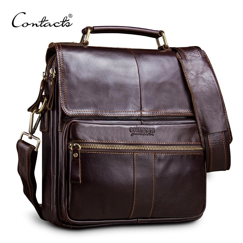 Контакта повседневное пояса из натуральной кожи для мужчин курьерские Сумки с карманом на молнии высокое качество сумка для м