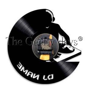 Image 5 - 1 adet DJ kişiselleştirilmiş özel ad vinil kayıt duvar saati Modern lamba duvar saati LED gece lambası Rock N rulo DJ hediye