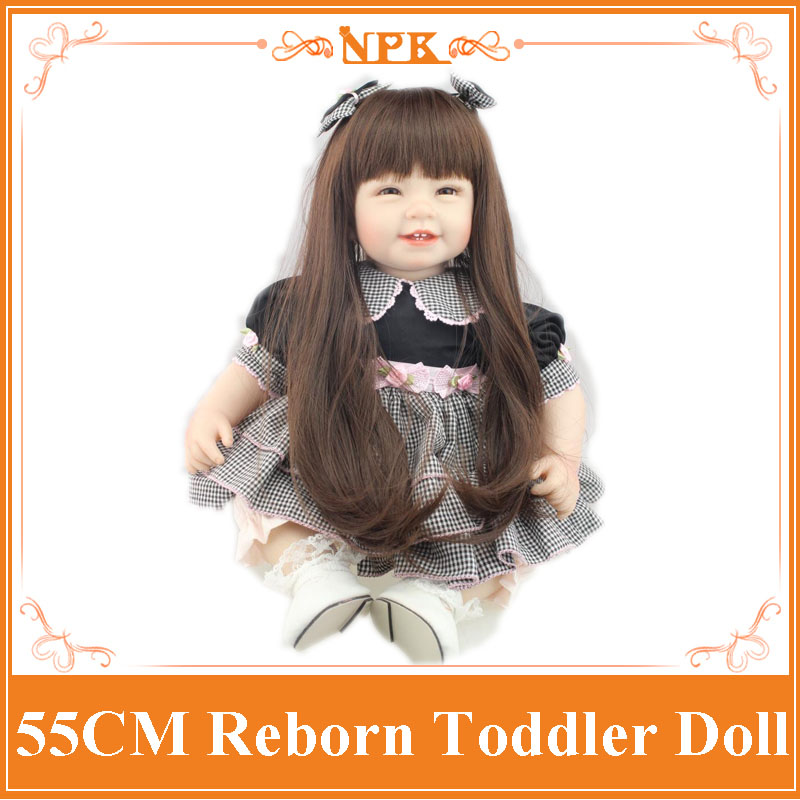 Hot New Fantasy Collectible Dolls Of NPK Brand Soft Silicone Baby Toys Real Touch Lovely BeBe Dolls Gift Brinquedos For Kid/Girl free shipping hot sale real silicon baby dolls 55cm 22inch npk brand lifelike lovely reborn dolls babies toys for children gift