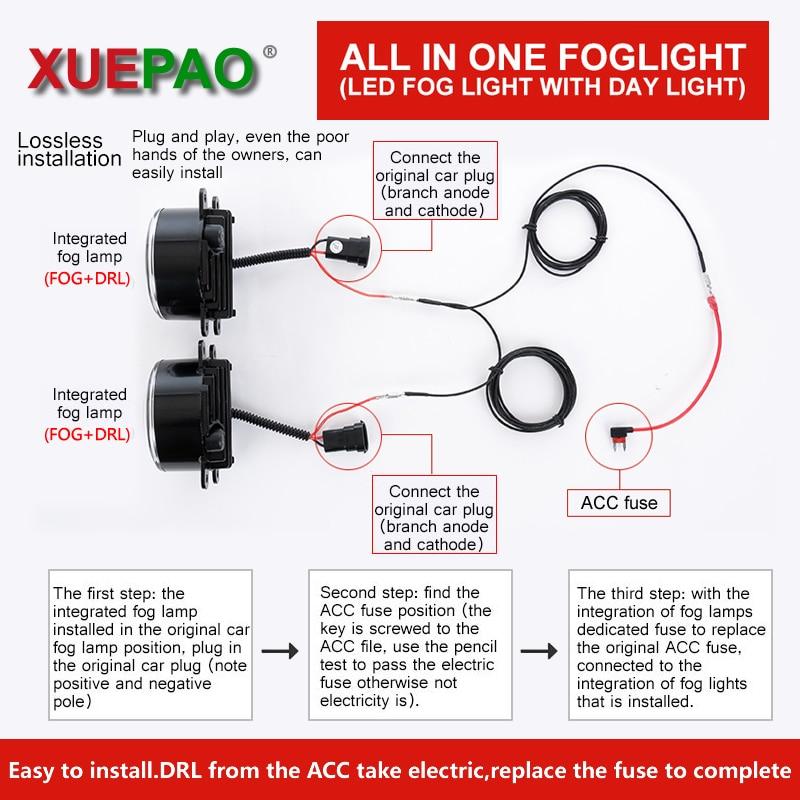 XUEPAO For Nissan Livina X gear 2012 Fog Lamp Built in Daytime ...