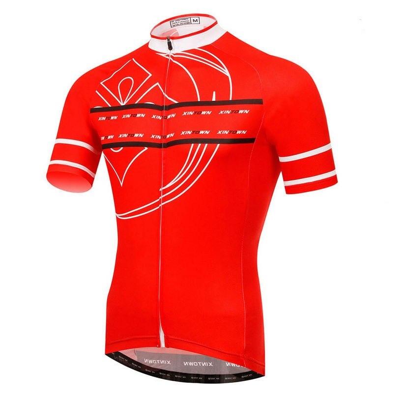 Nuevo equipo de los hombres de xintown Bicicletas Ciclismo Jersey ropa MTB ropa blanco negro rojo bicicleta Top Camisas transpirable cc0376