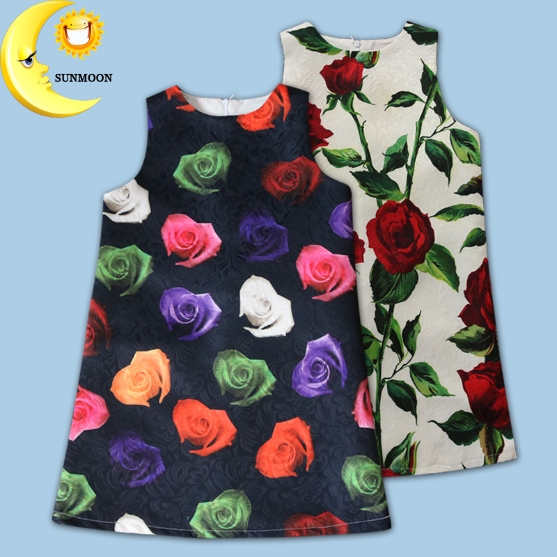 Girls dress summer new kids clothes brand floral children clothing for princess holiday summer wedding 2016 hot sale
