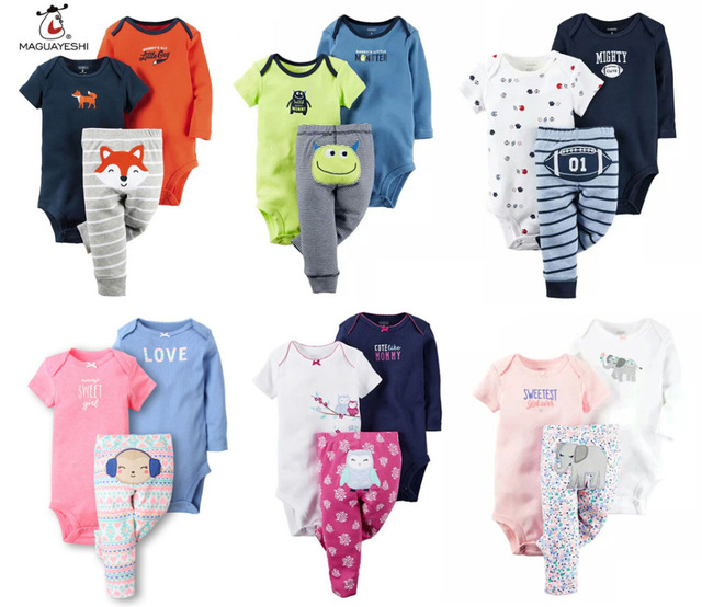Children Autumn Clothes Set Baby Boy Girl Clothes 3PCS Long Sleeve Rompers Pants Ropa Bebe Christmas Gift Cotton Newborn Rompers