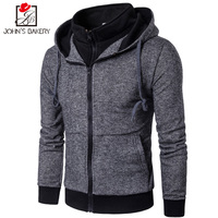 John S Bakery 2017 New Fashion Hoodies Brand Men Fake Two Sweatshirt Male Hoody Autumn Winter