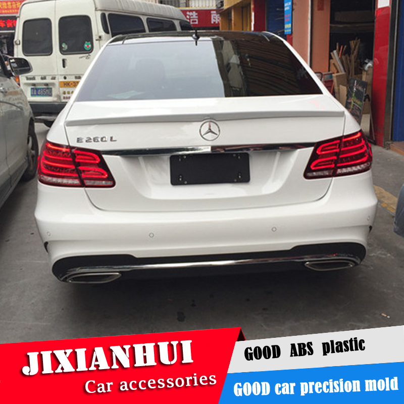 For <font><b>W212</b></font> Spoiler 2008-2015 <font><b>Mercedes</b></font>-Benz <font><b>W212</b></font> YC E-class E200 E260 Spoiler ABS plastic Material Car Rear Wing Color Rear Spoiler image