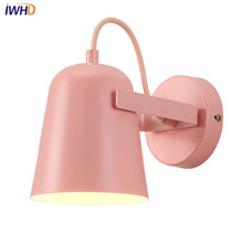 IWHD Simple Modern LED Wall Sconce lampshade Adjust Iron Wall Light Fixtures For Bedroom Bedside Wall Lamp Indoor Lighting iwhd simple modern wall lamps sconce creative led wall light for home lighting iron bedside wall lamp integrated lampara