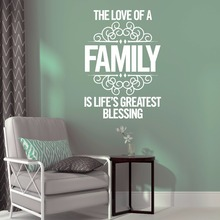 Love Family Wall Words Sticker Home Decoration Quote Decor Removable Vinyl Stickers Decal AY1805