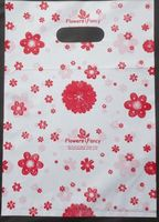 500pcs Promotions 15x20cm Red small flower pattern Gift Bags Plastic Boutique Pouches Shopping Gift Package Bag 01502015